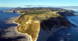 Novozélandský poloostrov Māhia, kde stojí první a zatím jediný startovní komplex raket Electron.