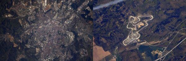 Brno vyfocené Andrew Feustelem z paluby ISS.