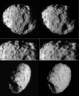 Kometa 81P/Wild 2 na snímcích sondy Stardust. Foto: NASA/JPL