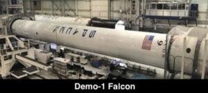 První stupeň Falconu 9 Block 5 s výrobním označením B1051.