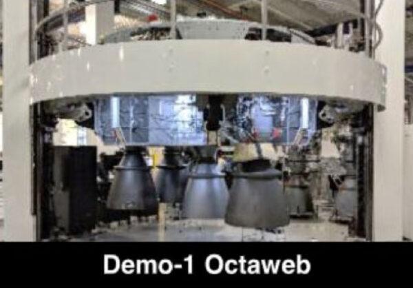 Octaweb prvního stupně Falconu 9 pro misi DM-1