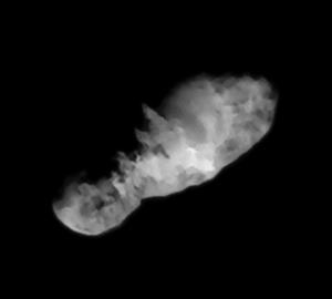 Kometa 19P/Borrelly ze sondy Deep Space 1. Foto: NASA/JPL/Ted Stryk