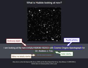 Na co se zrovna dívá Hubbleův teleskop?