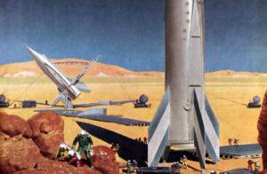 Takto si základnu na Marsu představoval Wernher von Braun.