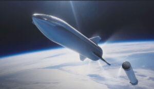 Oddělení lodi BFR od nosiče BFS.