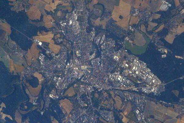 Plzeň z ISS