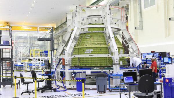 Modul Orionu pro posádku pro pilotovanou misi EM-2, 11. září