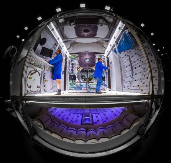 Předpokládané rozvržení vnitřního prostoru modulu Donatello