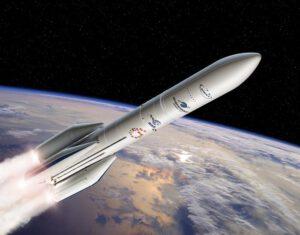 Ariane 64 má čtyři urychlovací bloky na tuhé pohonné látky.