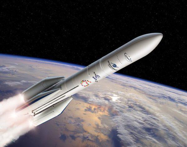 Umělecká představa rakety Ariane 6.