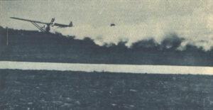Legendární let raketového kluzáku Opel Hatry Rak 1 z 30. září 1929.
