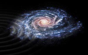 Vlny prostupující galaxií