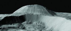 Ahuna Mons, nejvyšší hora na Ceres