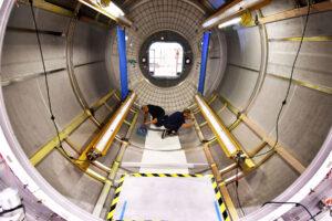 Úprava modulu Donatello na pozemní prototyp obytného modulu, 16. srpna