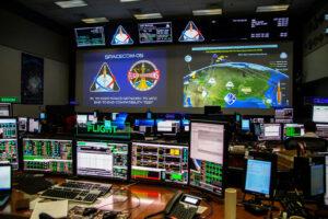 Testy komunikace s Orionem v MCC v Houstonu, srpen