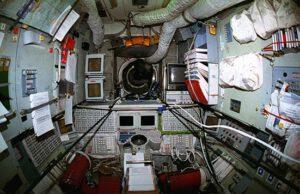 Pohled do interiéru základního bloku v době programu Shuttle/Mir