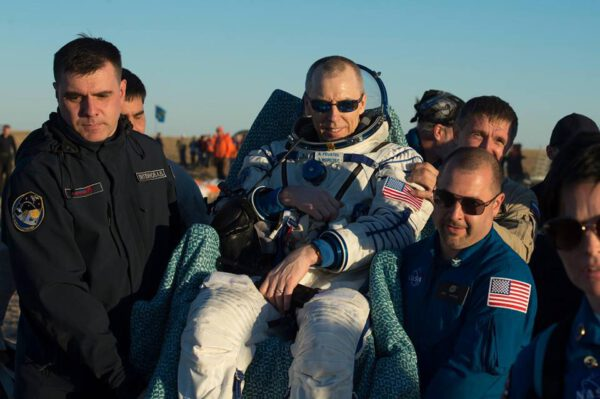 Andrew Feustel po přistání