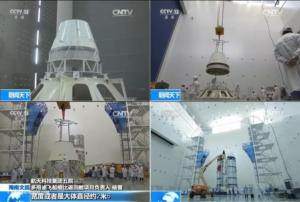 Příprava testovacího modelu nové čínské pilotované lodě