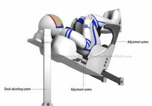 Křeslo Čeget má umožnit přizpůsobení velikosti podle potřeb různých astronautů.