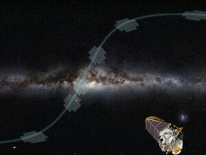 Při nadstavbové misi K2 se zorné pole teleskopu přesouvalo.