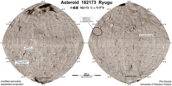Mapa Ryugu