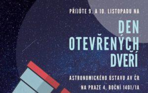 Den otevřených dveří Astronomického ústavu AV ČR