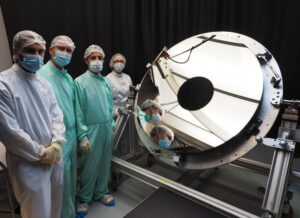 Primární zrcadlo teleskopu Euclid.