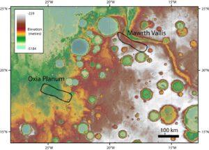 Dvě plánované oblasti přistání pro ExoMars 2020
