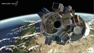 Vizualizace nákladu při misi SSO-A
