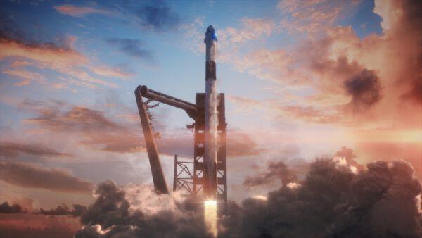 Takto by mohl Falcon 9 vynášet Crew Dragon