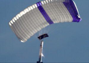 Raketa SARGE při návratu z dosud posledního testu.