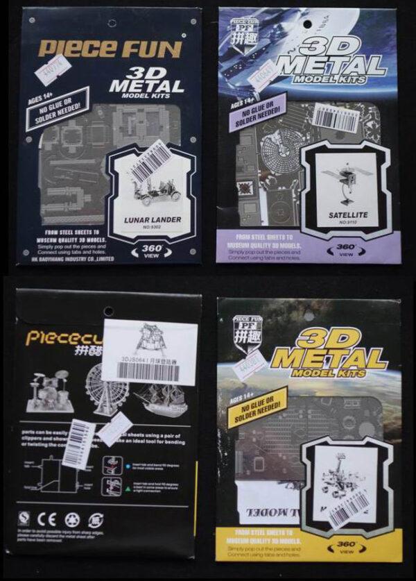 Jako 3D kovové stavebnice se dá koupit lunární Rover, sonda Hayabusa, lunární modul nebo třeba rover Spirit.