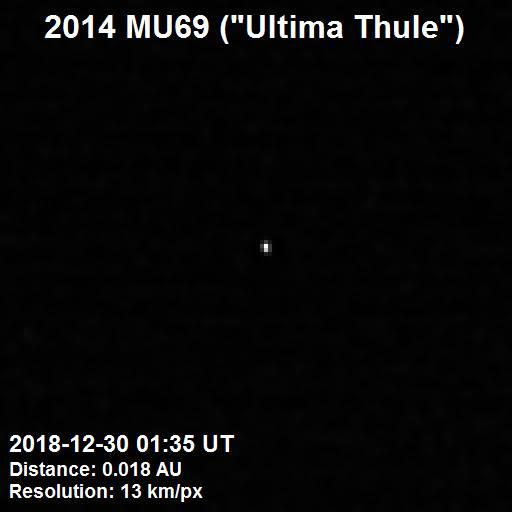 Ultima Thule vyfocená 30. prosince