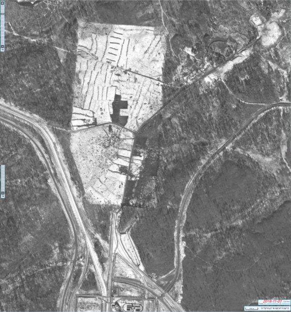 Satelitní snímek staveniště startovního komplexu pro rakety Angara, 1.11.2018