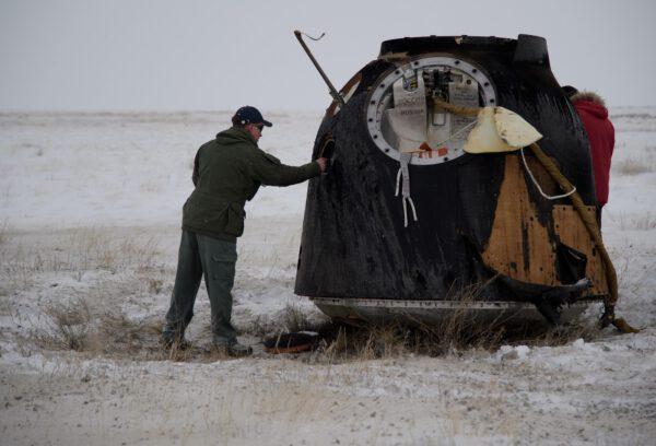 Sojuz MS-09 a stav jeho opálení průletem atmosférou