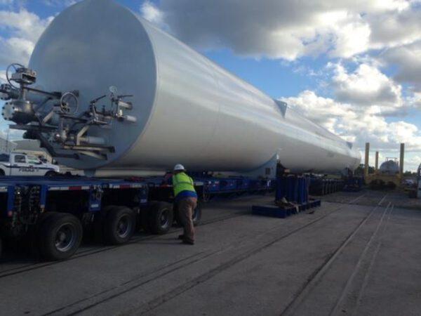 Zásobníky na zemní plyn pro raketu Vulcan