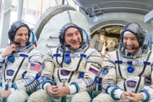 Posádka Sojuzu MS-13 (Andrew Morgan - Alexandr Skvorcov - Luca Parmitano)