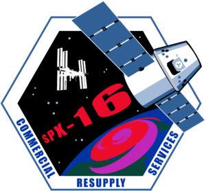 Logo mise SpaceX CRS-16 vytvořené agenturou NASA.