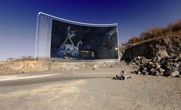 Testování budoucího vozítka pro Měsíc v Kanadě, připojeno i jeho virtuální zobrazení