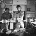 Volkov s Krikaljovem při výcviku