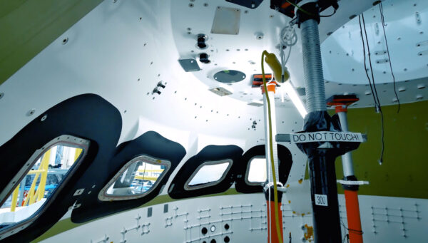 Interiér Orionu pro pilotovanou misi EM-2, 14. listopadu
