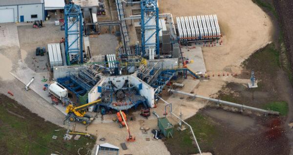 Testovací stanoviště motorů Raptor na základně McGregor v lednu 2019.