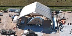 Zničená špička Starship Hopperu