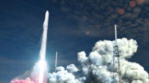 Vizualizace startu rakety Terran-1