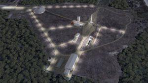 Rakto by měl vypadat floridský startovní komplex číslo 16 po dokončení stavebních prací.