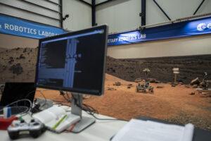 Software během zkoušek roveru ExoTeR.