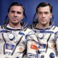 Posádka EO-5, zleva: Viktorenko, Serebrov