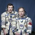 Posádka EO-6: Solovjov (vpravo), Balandin