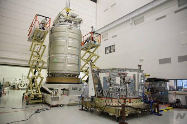 Přetlakový a servisní modul lodi Cygnus pro misi NG-11.