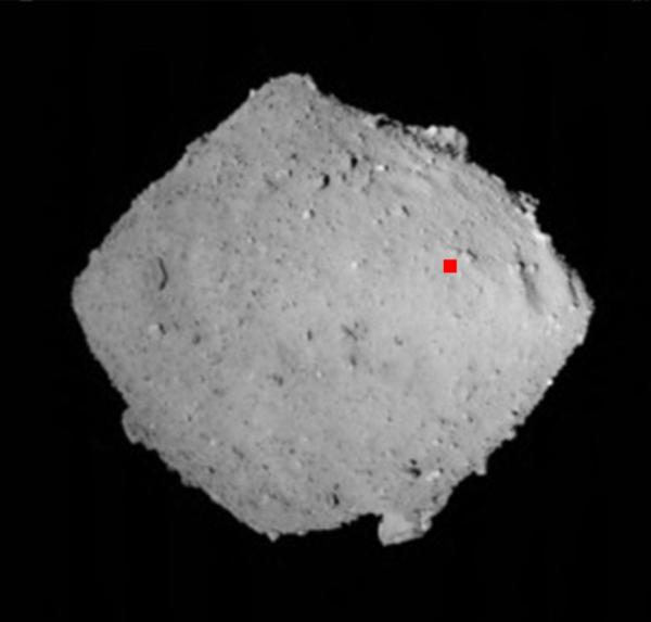 Poloha místa odběru vzorků sondou Hayabusa 2